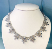 Crystal Laced Necklace - Beadwork Necklace Kit with SWAROVSKI® Crystal Xilions (Silver)